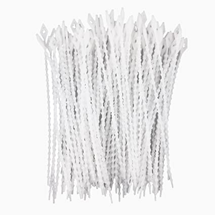 ec80b32904fe Image Unavailable. Image not available for. Color: Honbay 100pcs White  Plastic Repeated Beads Cable Tie ...