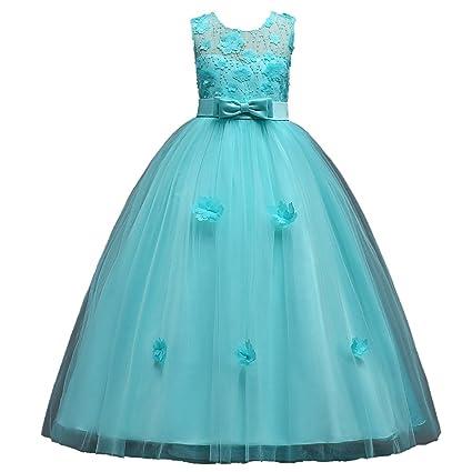 GHTWJJ Vestidos De Noche para Niñas Vestido De Novia Princesa para Boda Vestido para Niños Vestido