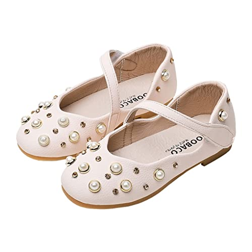 iFANS Girls Mary Jane Rabbit Shoes Ballet Flats Cute Dress Shoe Toddler Little Kids