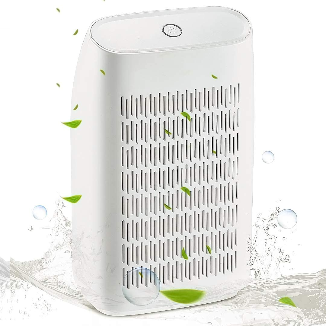 SIX by SIX Portable Mini Dehumidifier,700ml Water Tank 215 sq ft Super Quiet Electric Small Dehumidifiers for Bedroom RV Baby Room