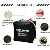 Zoeson 40L/10Gallon Camping Shower Bag for Hiking & Camping