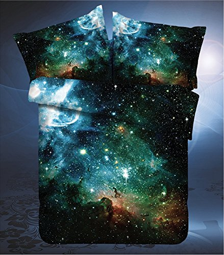 LELVA Galaxy Bedding Set Galaxy Duvet Cover Set Kids Bedding