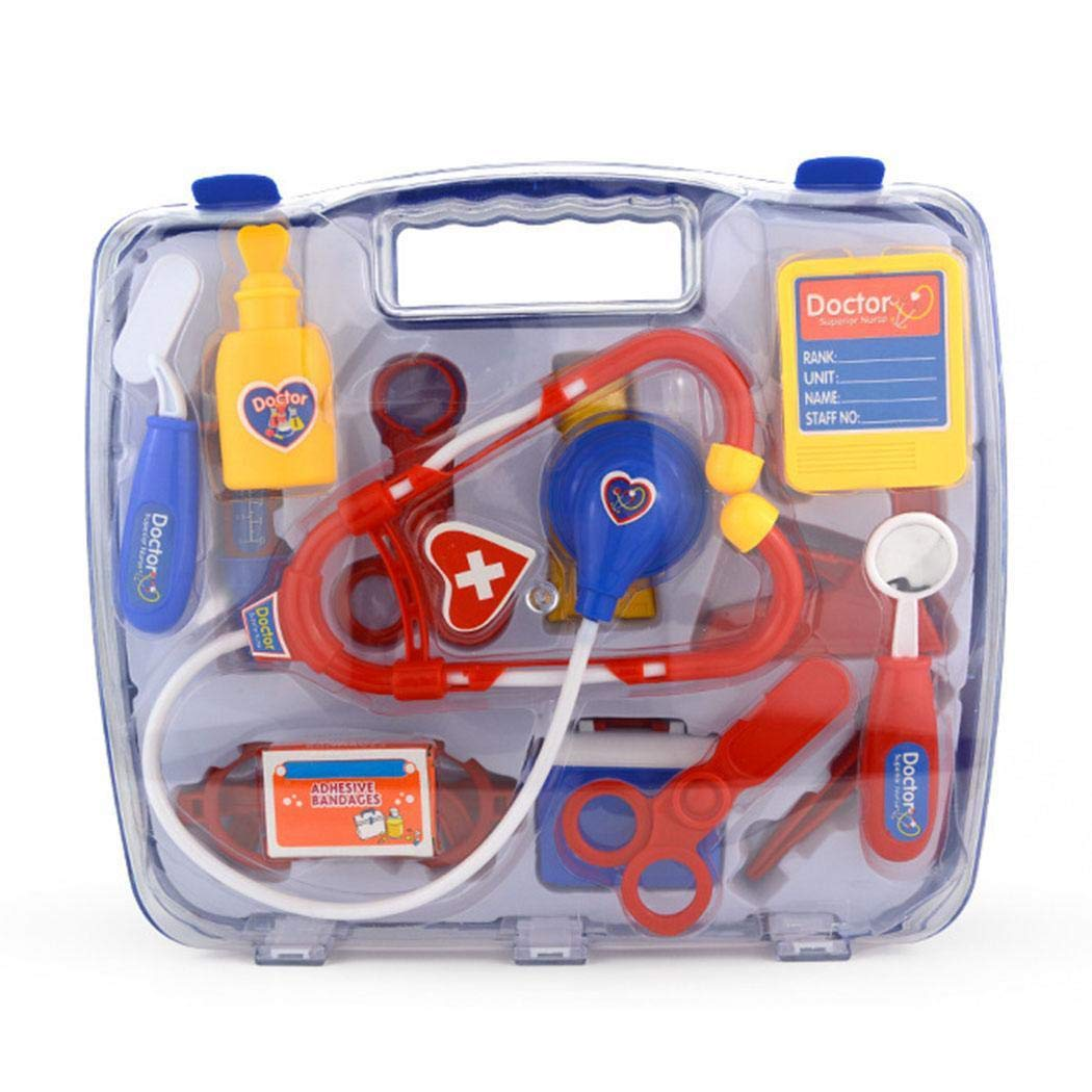Meflying Durable with Stethoscope Medical Doctor Equipment Kids Doctor Kit Toy Activity Play Centers