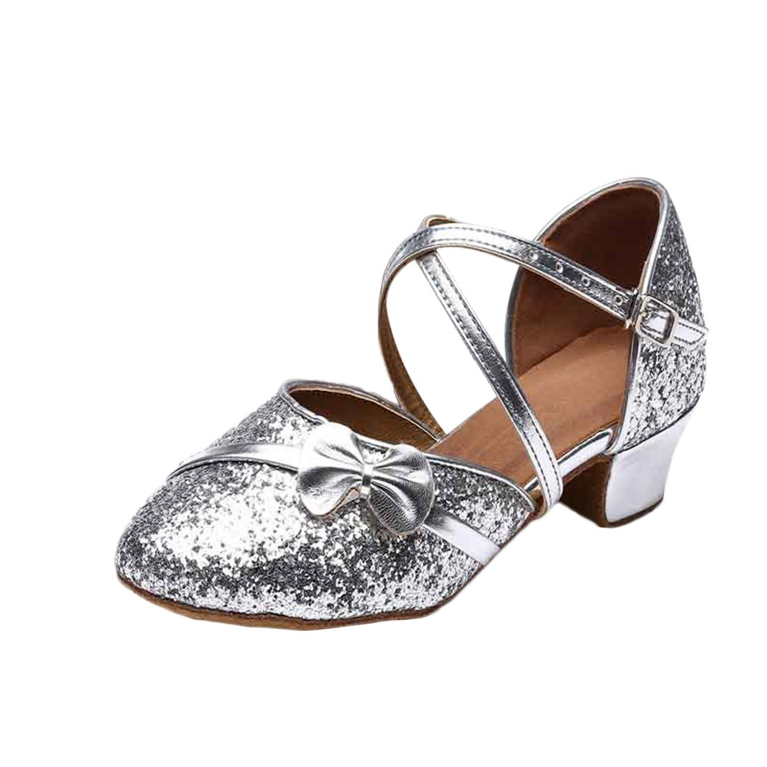 JTENGYAO Baby Grils Dress Up Princess Shoes Latin Dance Low Heel Shoes For Party Wedding