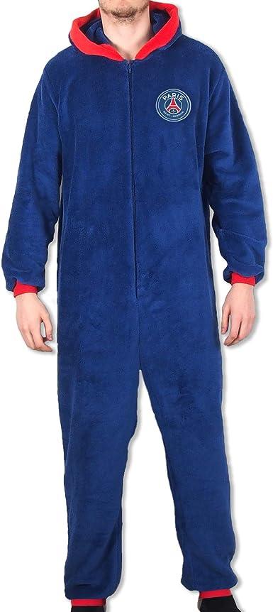Paris Saint-Germain - Pijama de una Pieza con Capucha para Hombre - Producto Oficial