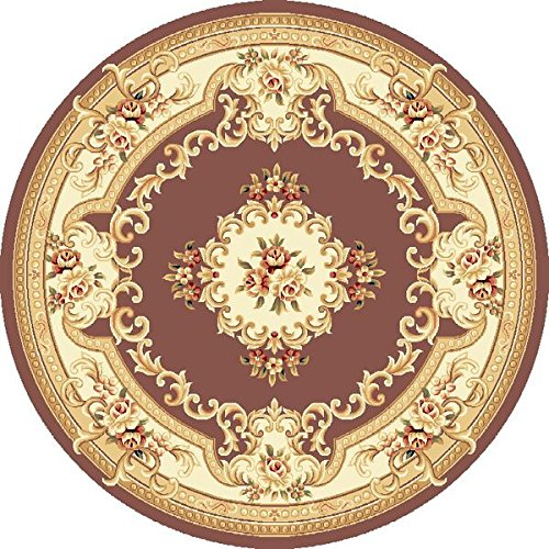 - KAS Oriental Rugs Corinthian Collection Aubusson Round Area Rug, 7' x 7