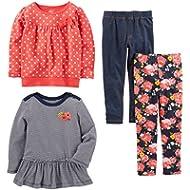 Simple Joys by Carter's Girls' Toddler 4-Piece Playwear Set