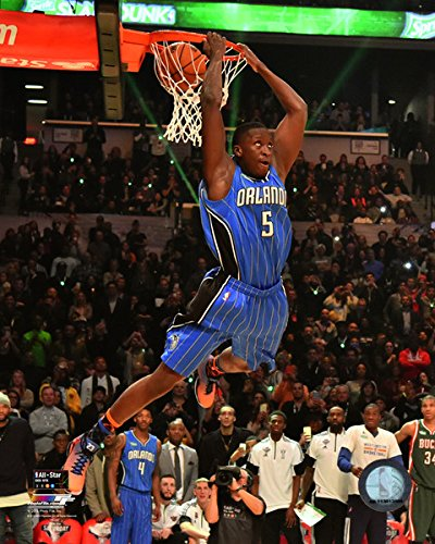 NBA Victor Oladipo Orlando Magic Slam Dunk Contest Photo (Size: 8