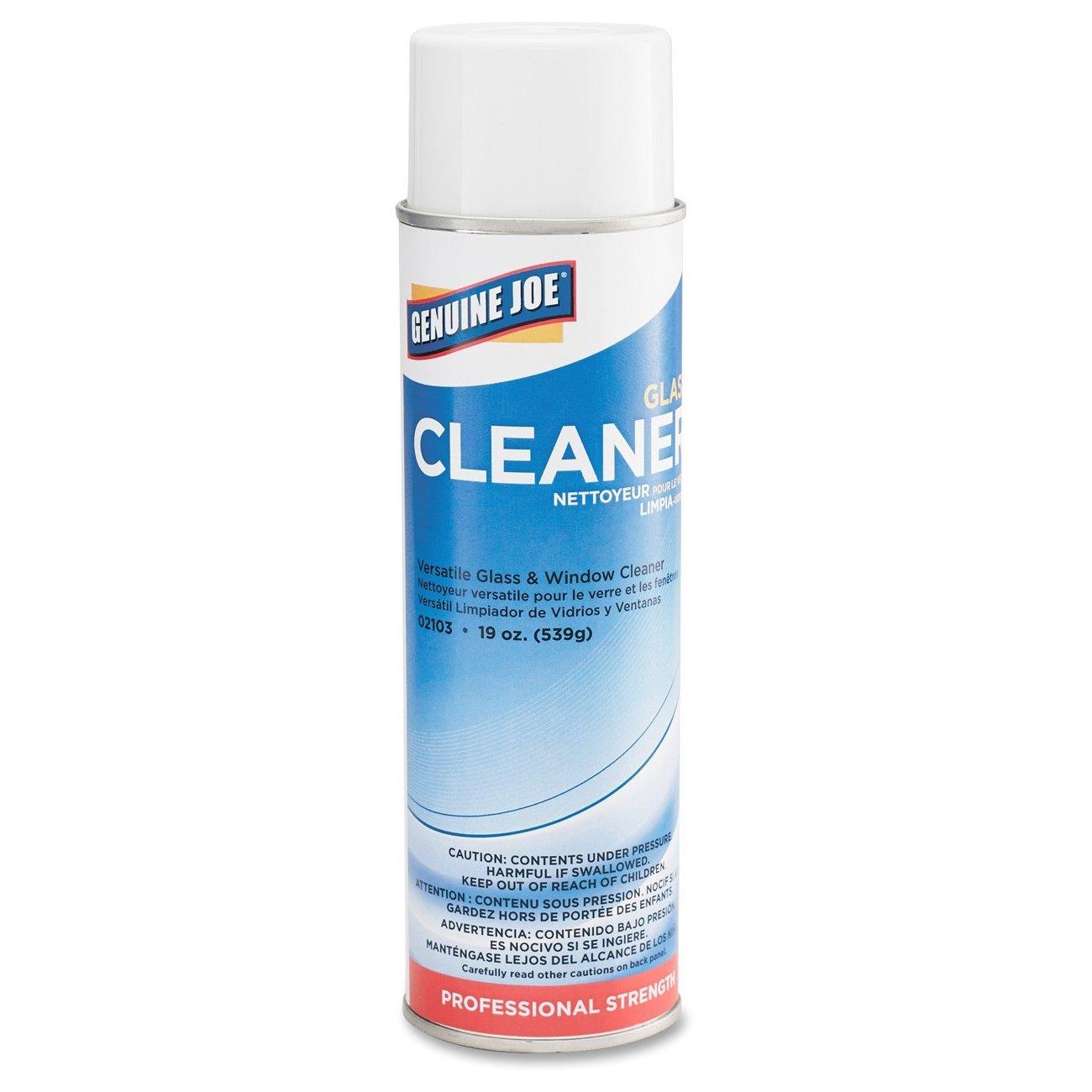 Genuine Joe GJO02103CT Ready-To-Use Glass Cleaner, 19 oz., Aerosol (Pack of 12)