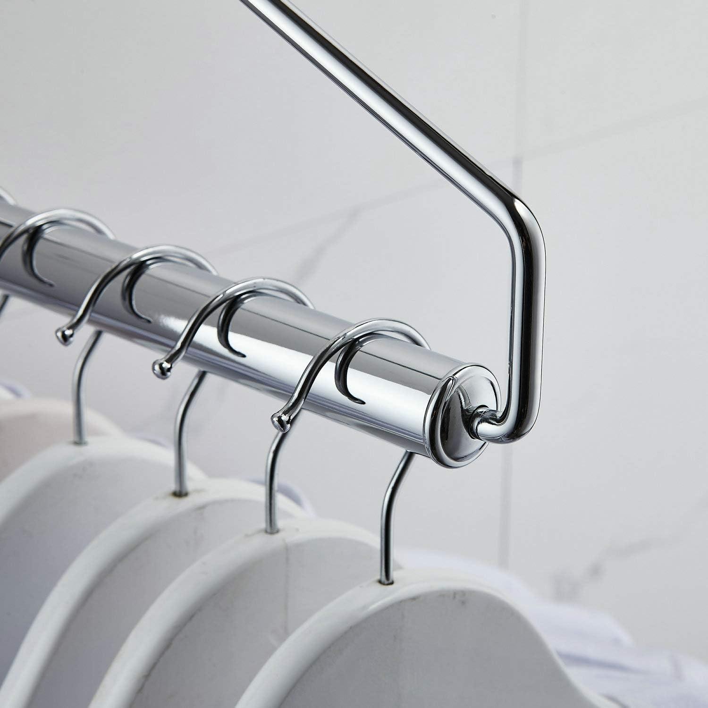 Kelelife color cromo pulido Percha plegable para colgar ropa en la pared