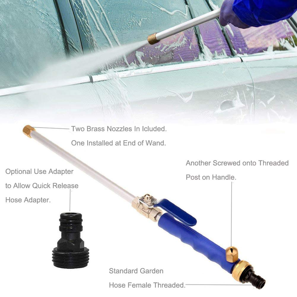 High Pressure Power Washer Wand, High Pressure Water Hose Attachment Spray  Nozzle, Perfect For Washing Cars, ...