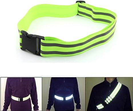 Elástica reflectante corriendo cintura cinturón con luz ...