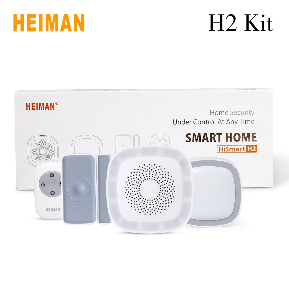 Amazon.com : HEIMAN H2 Kit Smart Home Pack IOS Android with Zigbee Automation Technology DIY Installation Support Wifi IOT Mobile Phone Remote Control Smart ...