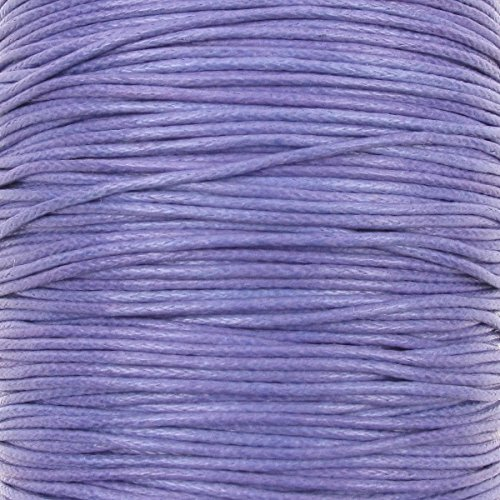 The Bead Shop 1mm Waxed Cotton Cord Thread Shamballa Macrame Jewellery Black 10 metres