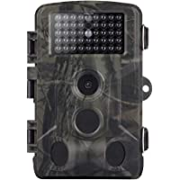 Cámara de Caza 16MP 1080P con Diseño Impermeable IP65, Gran Angular de 120°, Distancia de Disparo de hasta 20 m…