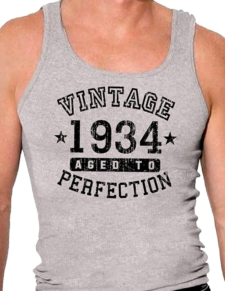 TooLoud 1934 Vintage Birth Year Mens Ribbed Tank Top Brand