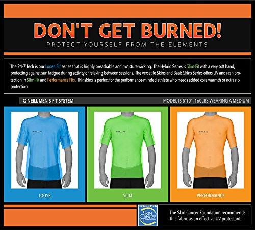 O'Neill Wetsuits UV Sun Protection Mens Basic Skins Long Sleeve Crew Sun Shirt Rash Guard
