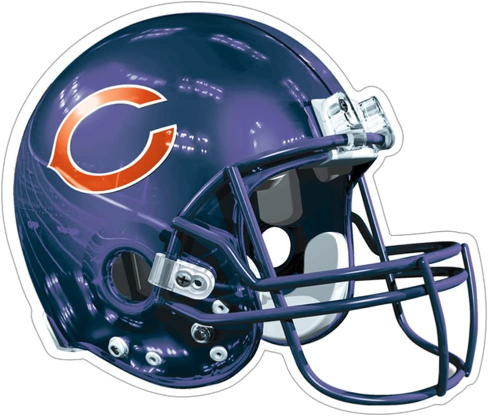 NFL Chicago Bears Logo Helmet Magnet (Pack of 1)
