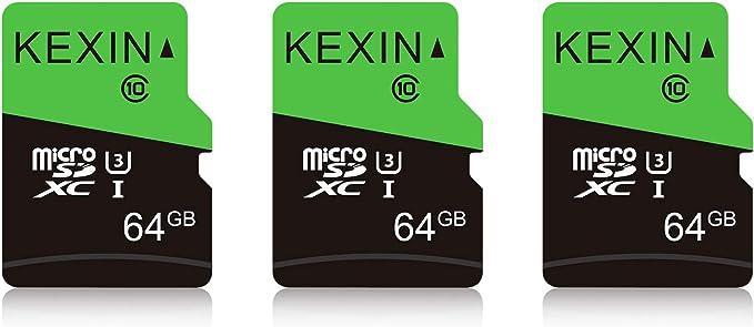 Kexin 64gb Micro Sd Karte 3 Stück Uhs 3 Microsdxc Computer Zubehör