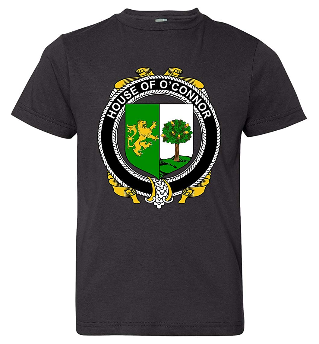 Black T-Shirt Medium Sligo Tenacitee Boys Youth Irish House Heraldry OConnor