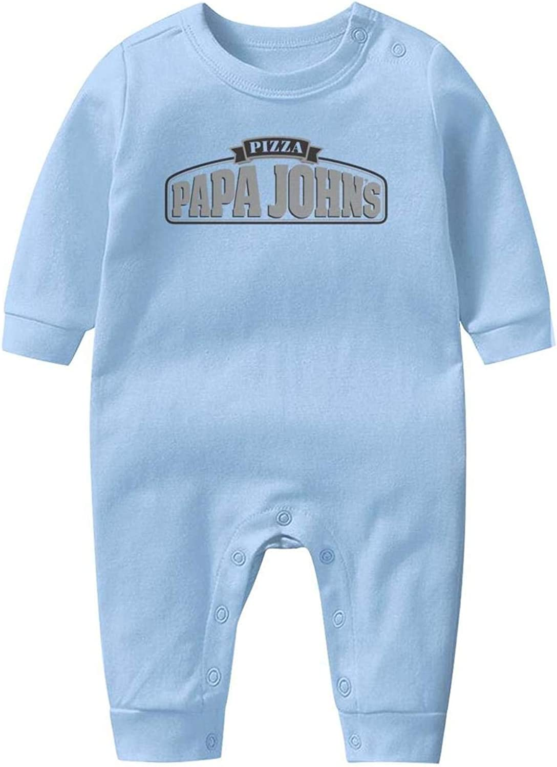 Baby Boys Girls Long Sleeve Baby Onesie Cute Baby Clothes Papa-Johns-Pizza-Logo-Sign