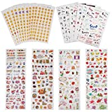 #8: Planner Stickers Value Pack (Assorted 1877 PCS, 44 Sheets) - Decorative Sticker Collection for Scrapbooking, Calendars, Arts, Kids DIY Crafts, Album, Bullet Journals by Knaid