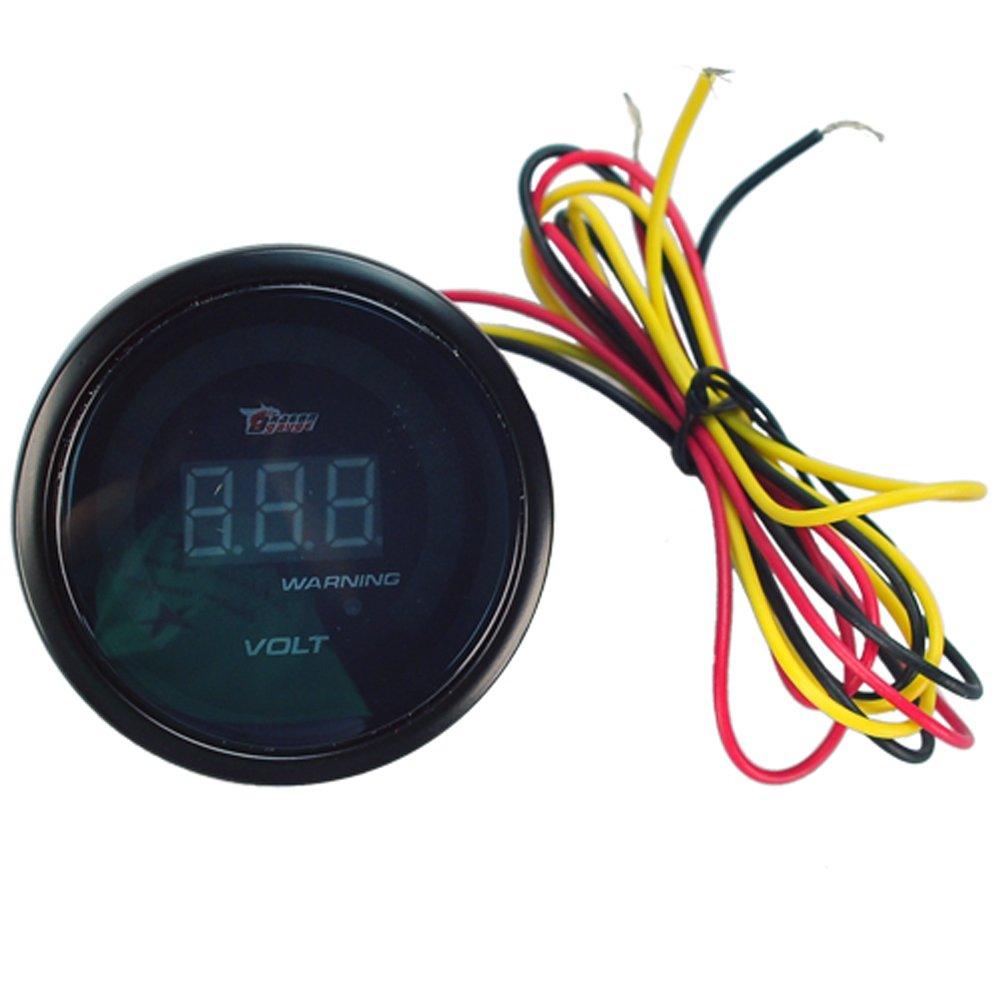 Hotsystem Auto Car 252mm Digital Color Analog Led Volt Voltage 8 Gauge Wiring 18v Racing Vehicle Security Complete Systems