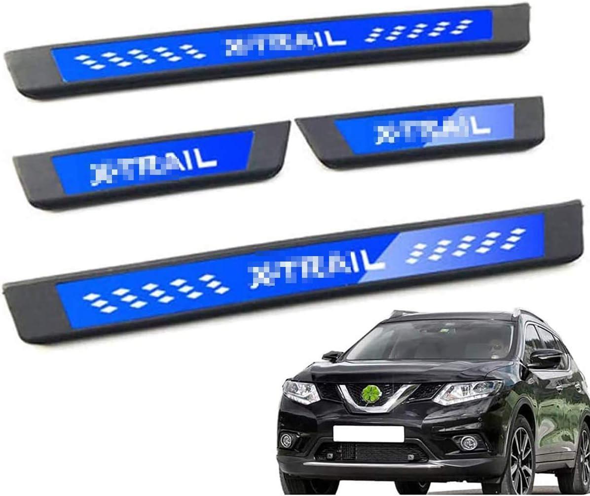Pedal de Placas de Freno de Coche de Acero Inoxidable moldura de protecci/ón de Cubierta de umbral Adhesivo Protector de Placa QWASZX Protector de umbral de Puerta para Nissan X-Trail 2009-2020