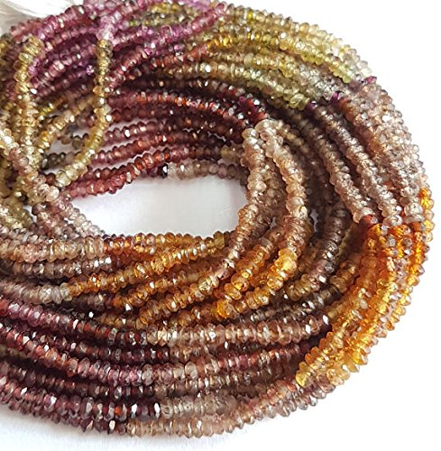 2 mm to 2.5 mm size rondlles , TUNDRA Sapphire faceted rondelle shape beads , 13 inch strand - Tundra Sapphire Gemstone