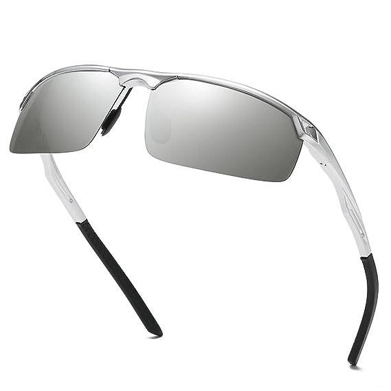 Duco Lunettes de soleil polarisées incassables UV400 Lunettes de soleil  Hommes pour sports de plein air 70fd82f438e9