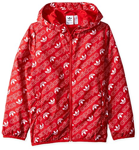 Red Originals Big Xl Collegiate Monogram white Trefoil Adidas Boys' Windbreaker gSFxwxH7