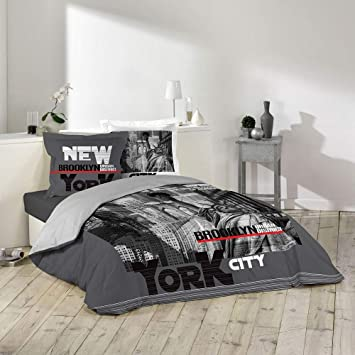 Housse Couette New York.Housse De Couette 220 X 240 Cm Taies New York District Brooklyn