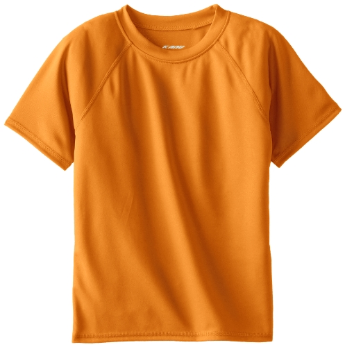 (Kanu Surf Toddler Boys' Short Sleeve UPF 50+ Rashguard Swim Shirt, Solid Orange,)
