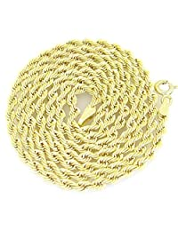 10K Yellow Gold hollow rope chain GC6