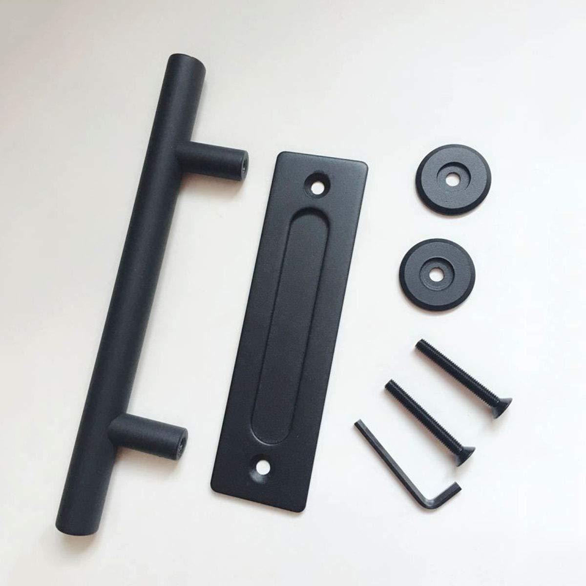 OUNONA T/ürgriff-Sets Heavy Duty Schiebe Barn Door Hardware Griffbeschl/äge Barn Door Hardware Schiebet/ür Doppelseitige Pull und Flush T/ürgriff 30,5 cm