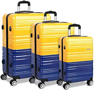 """Wanderlite 20"""" 24"""" 28"""" Hard Shell Suitcase Small Medium and Large Lightweight Roller Luggage Case"""