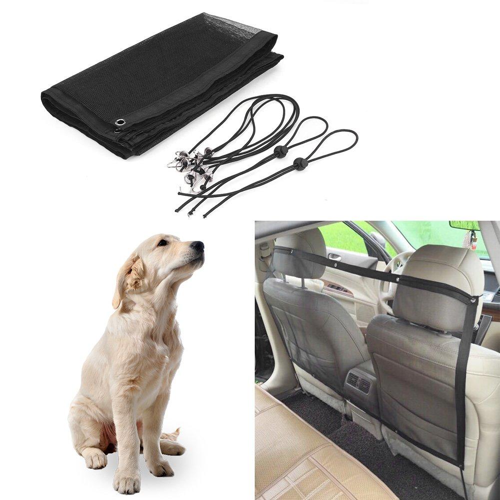 Qiilu 115 62 cm Haustier Sicherheit Reise Isolation Net R/ücksitz Dog Barrier Mesh f/ür Universal Auto Van SUV