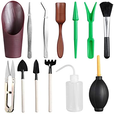 Mini Garden Hand Tools Sets Transplanting Tools Succulent Tools(Set of 13) : Garden & Outdoor