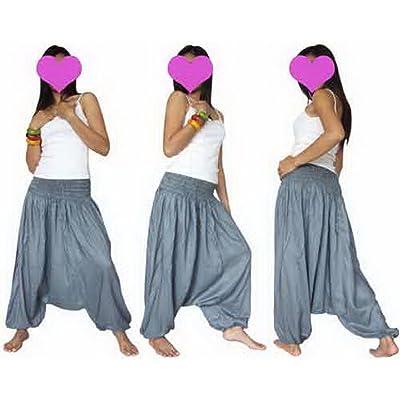 4Rene Genuine Rayon Hippie Boho Genie Ali Baba Aladdin Harem Pants Trousers