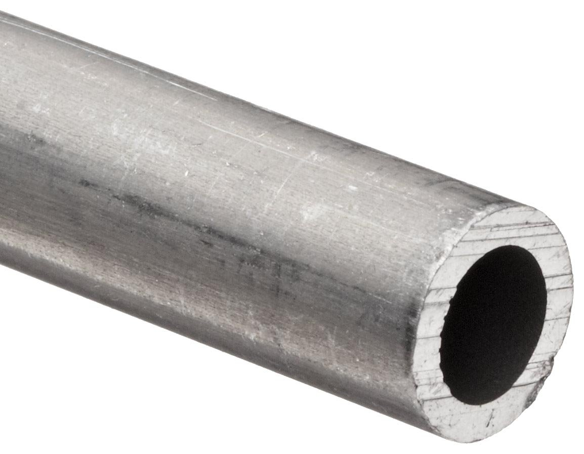 Aluminum 6061-T6 Extruded Pipe Schedule 40 8'' Nominal, 7.981'' ID, 8-5/8'' OD, 0.322'' Wall, 48'' Length