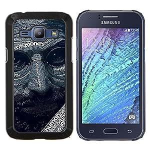 For Samsung Galaxy J1 J100 Case , Resumen Steve J Patrón- Diseño Patrón Teléfono Caso Cubierta Case Bumper Duro Protección Case Cover Funda