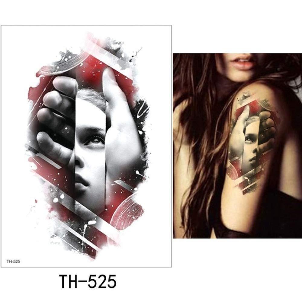 adgkitb 3 Piezas Hoja Tatuaje Temporal Pegatina Colorido Falso ...
