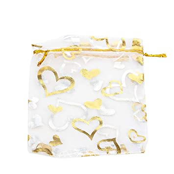 50 bolsas de organza en forma de melocotón para regalos de ...