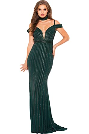 c5dbaae52e93 Jovani Prom 2018 Dress Evening Gown Authentic 56004 Long Green/Green at  Amazon Women's Clothing store: