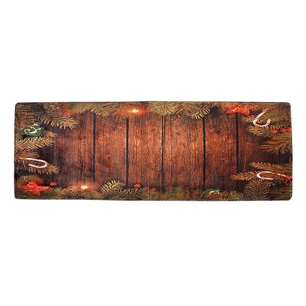 Christmas Anti-Skid Absorbent Carpet Bedroom Bathroom Kitchen Mats(Board) WinnerEco