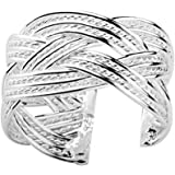 Adjustable Rings for women Celtic Rope Ring (one size fits all rings) Open Back adjustable Irish ring band (Silver Plated) fashion rings for women
