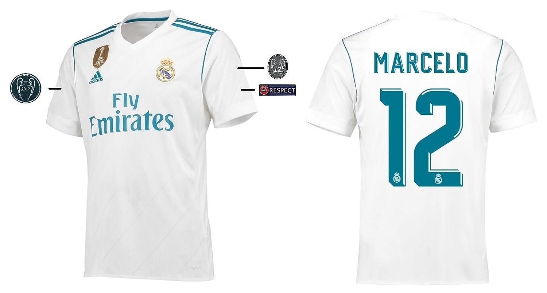 Trikot Kinder Real Madrid 2017-2018 Home UCL - Marcelo 12
