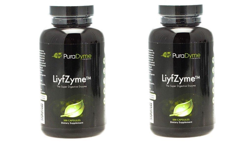 Puradyme ''LiyfZyme'' -500 Capsules 2 Pack