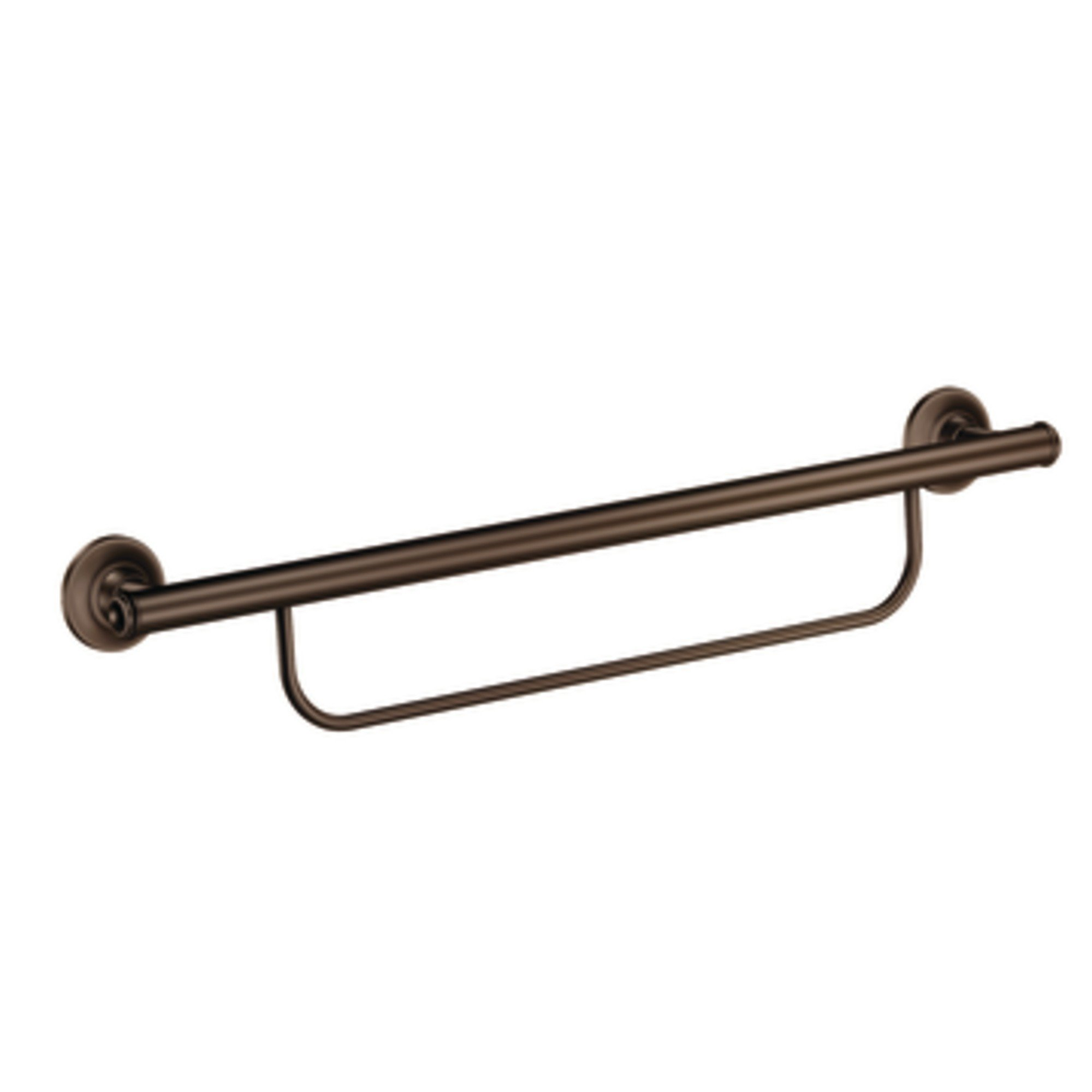Moen LR2350DOWB Grab Bar with Integrated Towel Bar, Bronze