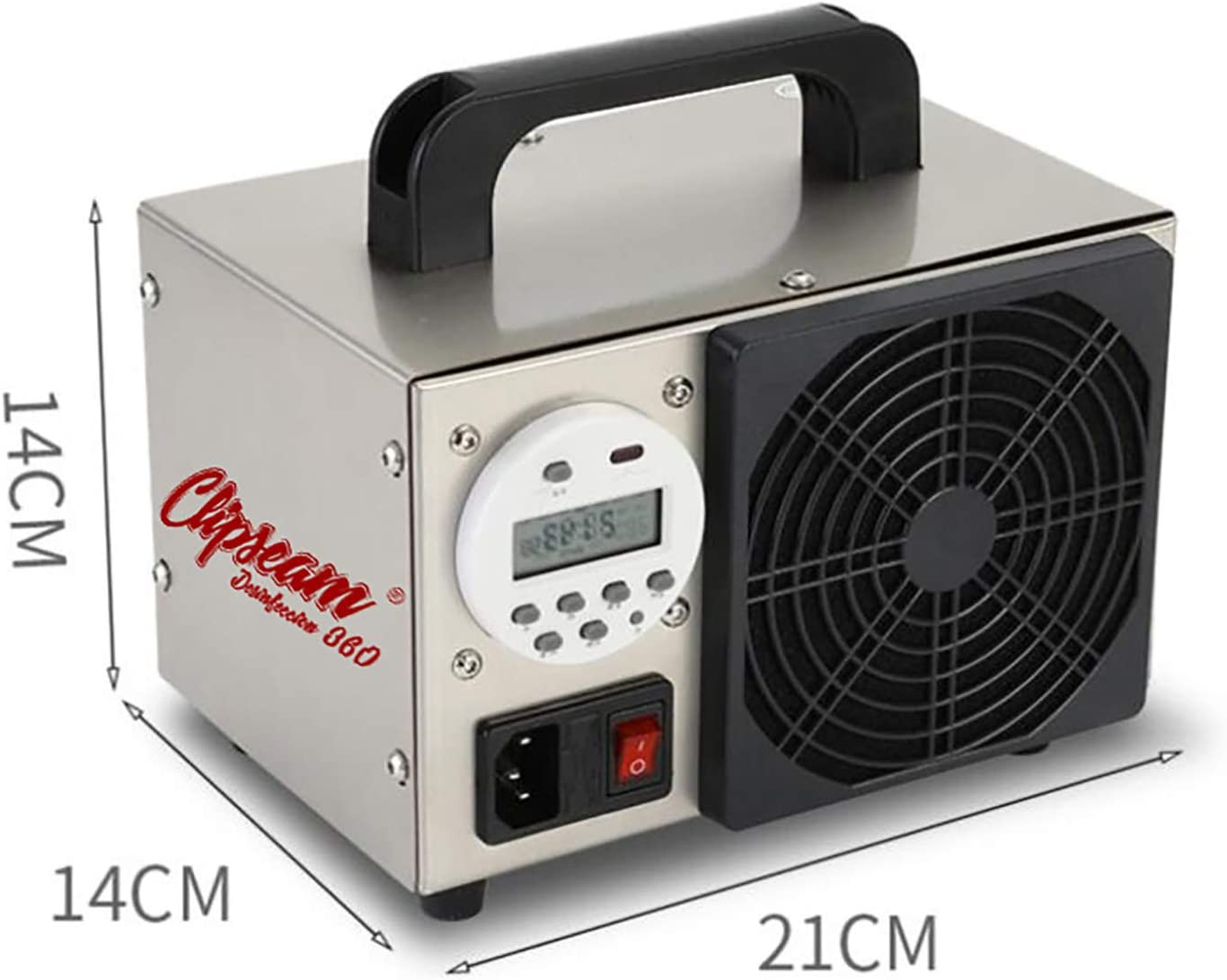 Negocios /Ácaros Elimina Virus Oficinas para Uso en Empresas 10 y 20gr//h para Tratar Superficies de hasta 80 a 250 m/² CLIPSEAM Generador de Ozono 5 Malos olores 5 gr//h Bacterias